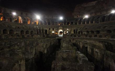 Excursions à Rome - Colisée sous la Lune