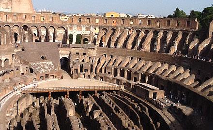 Zones exclusives à visiter au Colisée - l'Anneau Supérieur du Colisée