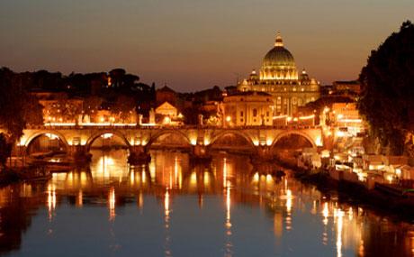 Visite guidée de Rome la nuit – Vue sur la Basilique St Pierre