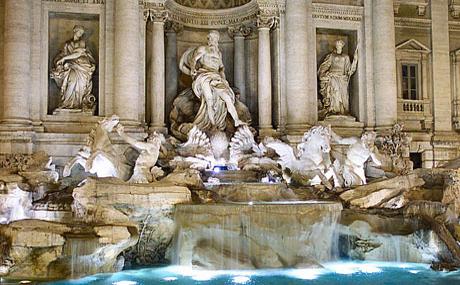 Visiter Rome de Nuit – Fontaine di Trevi