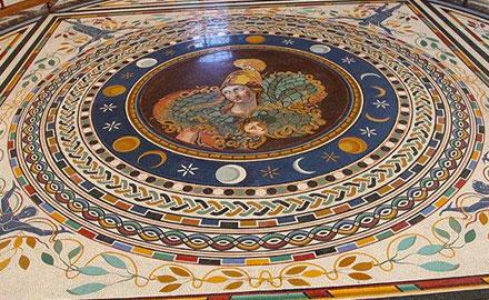 Excursions au Vatican - Sol en Mosaïque Soleil, Lune et Étoiles au Vatican